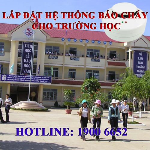 Lắp đặt hệ thống báo cháy Chungmei cho trường học - HOTLINE: 1900 6652